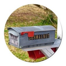 Rural mail boxes Round Car Magnet