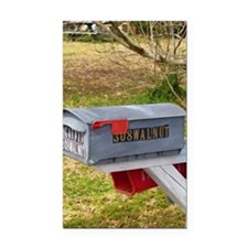 Rural mail boxes Rectangle Car Magnet