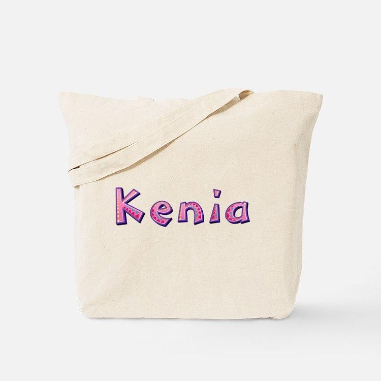 Kenia Pink Giraffe Tote Bag
