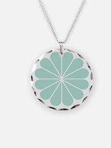 Divine Art Deco Style Mint G Necklace