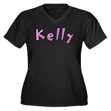 Kelly Pink Giraffe Plus Size T-Shirt