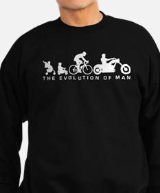 evolution of man motorcycle rider chopper Sweatshi