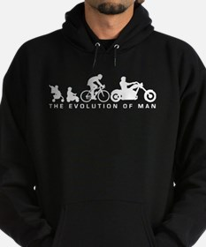 evolution of man motorcycle rider chopper Hoodie