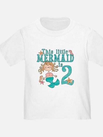 Mermaid 2nd Birthday T