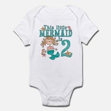 Mermaid 2nd Birthday Baby creeper