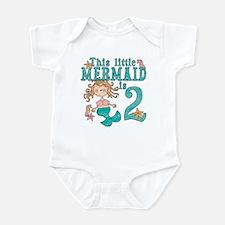 Mermaid 2nd Birthday Baby creeper