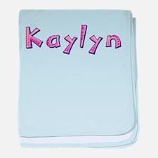 Kaylyn Pink Giraffe baby blanket