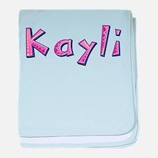 Kayli Pink Giraffe baby blanket