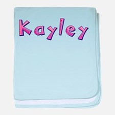 Kayley Pink Giraffe baby blanket