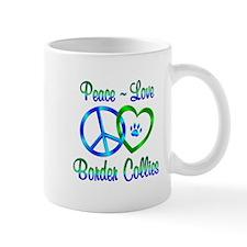 Peace Love Border Collies Mug