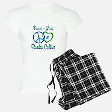 Peace Love Border Collies Pajamas
