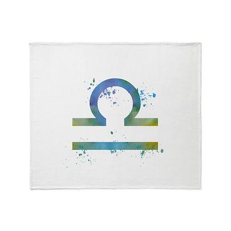 Libra (astrology) Throw Blanket