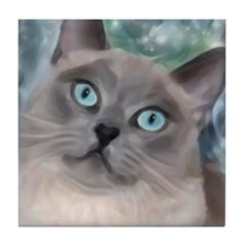 Unique Paintings of cats Tile Coaster