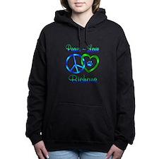 Peace Love Bichons Hooded Sweatshirt