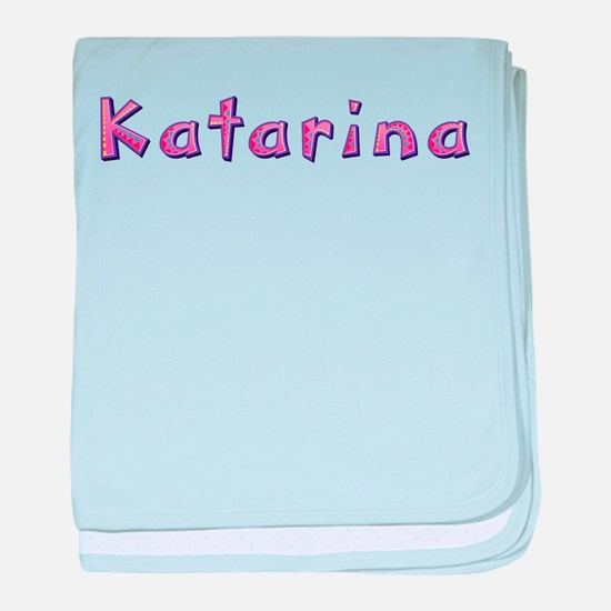 Katarina Pink Giraffe baby blanket