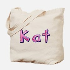 Kat Pink Giraffe Tote Bag