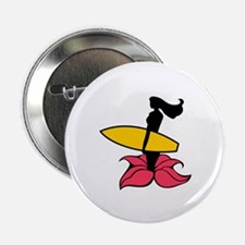"Surfing Wahine 2.25"" Button"
