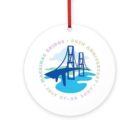 Mackinac Bridge Ornament (Round)