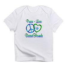 Peace Love Basset Hounds Infant T-Shirt