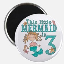 Mermaid 3rd Birthday Magnet