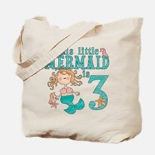Mermaid 3rd Birthday Tote Bag