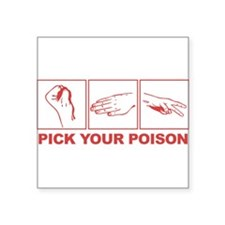 Rock Paper Scissors Pick Your Poison Sticker