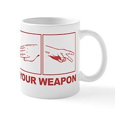Rock Paper Scissors Choose Your Weapon Mugs