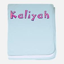 Kaliyah Pink Giraffe baby blanket