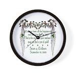 Wedding Sample 2 Wall Clock