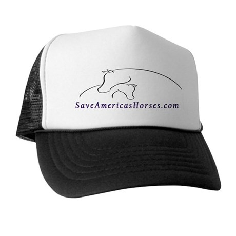 Save America's Horses Mare and Foal Line Art Hat