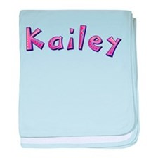 Kailey Pink Giraffe baby blanket