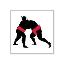 """Sumo wrestling Square Sticker 3"""" x 3"""""""