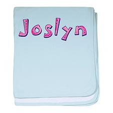 Joslyn Pink Giraffe baby blanket