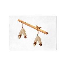 Native American Flute 5'x7'Area Rug