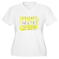 Cancer Friends Plus Size T-Shirt