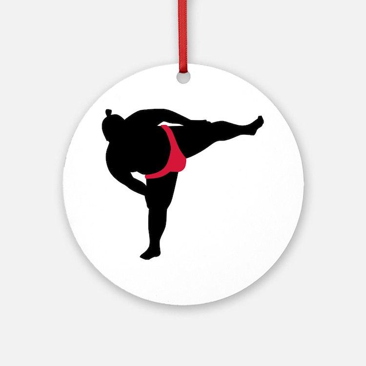Sumo wrestling sports Ornament (Round)
