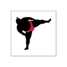 """Sumo wrestling sports Square Sticker 3"""" x 3"""""""