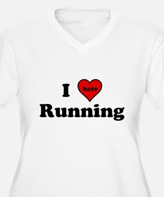 I Heart (hate) Running Plus Size T-Shirt