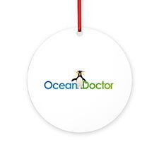 Ocean Doctor Penguin Logo Ornament (Round)