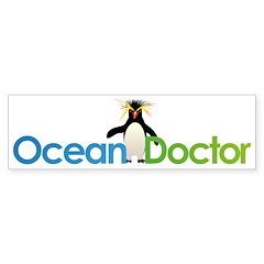 Ocean Doctor Penguin Logo Bumper Bumper Sticker