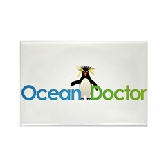 Ocean Doctor Penguin Logo Magnets