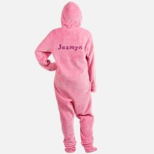 Jazmyn Pink Giraffe Footed Pajamas