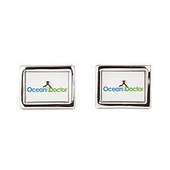 Ocean Doctor Penguin Logo Cufflinks