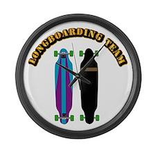 Longboard - Longboarding Team Large Wall Clock