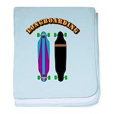 Longboard - Longboarding baby blanket