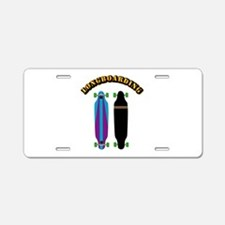 Longboard - Longboarding Aluminum License Plate