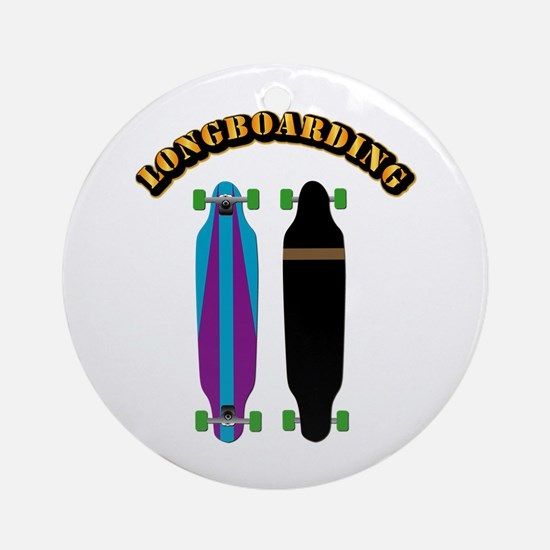 Longboard - Longboarding Ornament (Round)