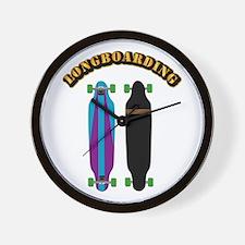 Longboard - Longboarding Wall Clock