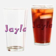 Jayla Pink Giraffe Drinking Glass