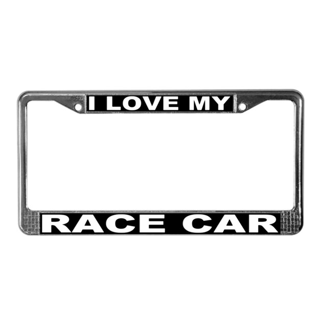 I Love My Race Car License Plate Frame #3 by aquilacreations